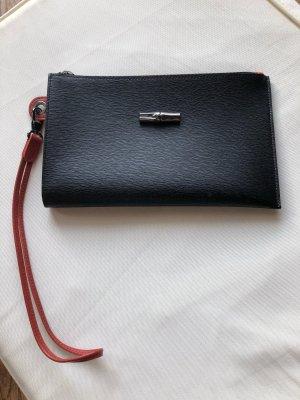 Longchamp Bolso tipo pochette negro-rojo ladrillo