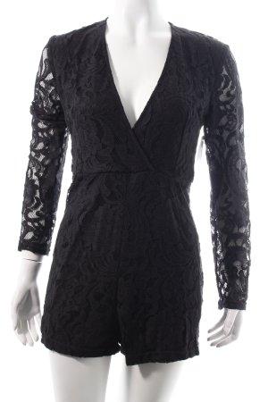 Rosebullet Jumpsuit schwarz Blumenmuster Eleganz-Look