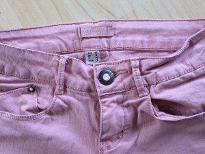 rosefarbene BERSHKA Hose in Gr. 36 - super skinny