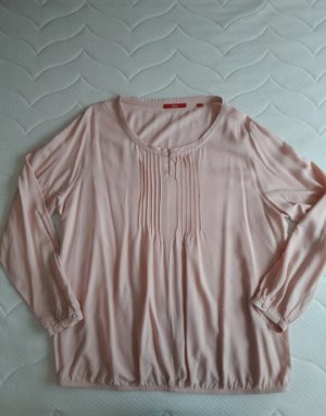 Roséfarbene Bluse mit Musterstruktur von S.Oliver