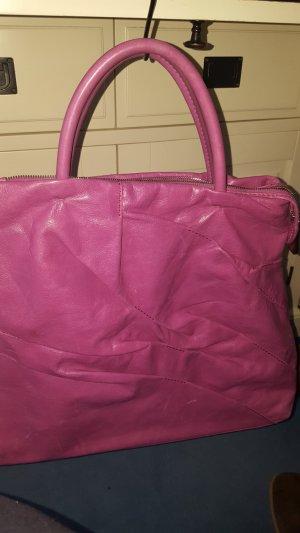 rosefarbene Coccinelle Lederhandtasche