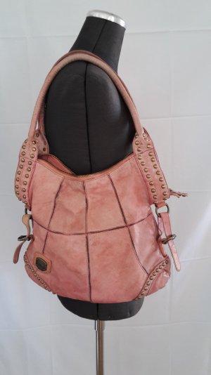 Roséfarbene Echtledertasche von MAZE