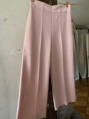 Zara Pantalón de cintura alta rosa-rosa claro