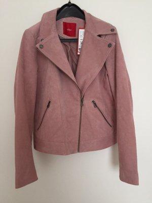 Rosefarbene Lederjacke von S. Oliver