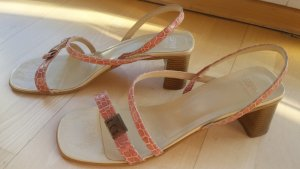 Esprit High-Heeled Sandals cream-dusky pink