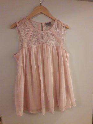Roséfarbene Spitzenbluse von Vero Moda