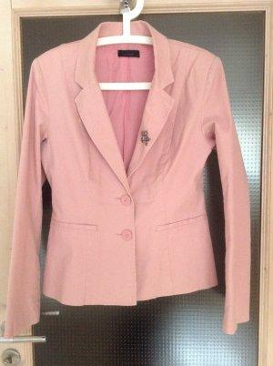 Roséfarbener Blazer von Vero Moda in Größe 40 mit passender Brosche