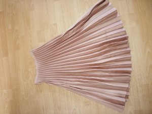 Hallhuber Pleated Skirt pink-gold-colored