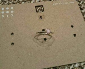 Rosefarbener Ring von Six