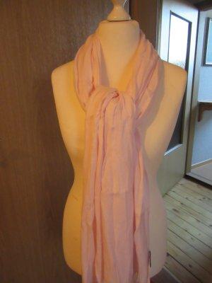roséfarbener Schal wie abgebildet