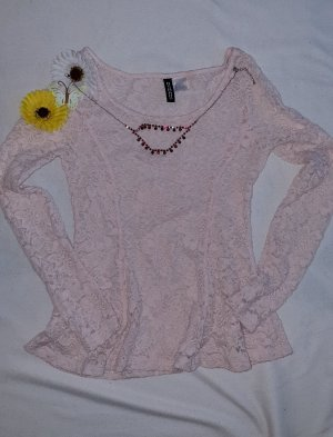 H&M Divided Frill Top pink