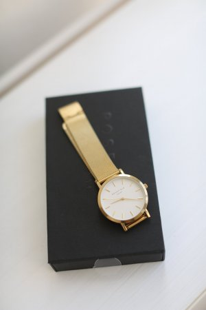 Rosefield Uhr Gold Mesh Armband Vintage Look Armbanduhr Blogger