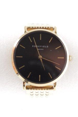 ROSEFIELD Uhr mit Metallband goldfarben-schwarz Elegant