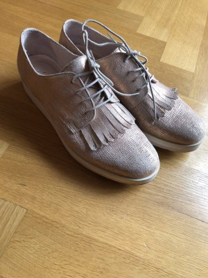 Lage schoenen roségoud