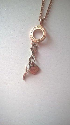 rosegold Halskette Flügel Herz Angel Engel
