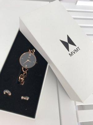 """Rosegold Uhr, schwarzes Ziffernblatt 32mm """"Sherry"""" von MVMT neu"""