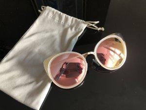 Roségold Verspiegelt Sonnenbrille Trend Cats Eyes Stile