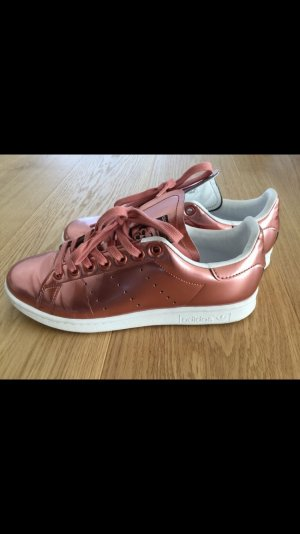 adidas stan smith Lace-Up Sneaker rose-gold-coloured-white