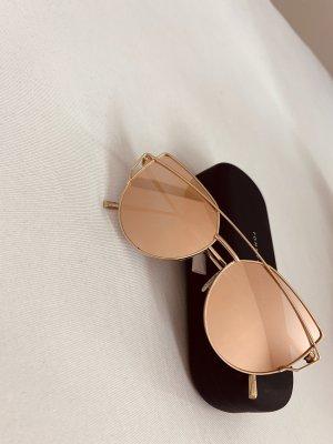 Rosegoldene Brille