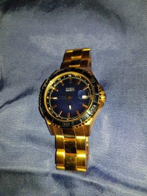 Guess Reloj con pulsera metálica color rosa dorado
