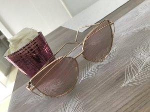 Rosegoldene Sonnenbrille
