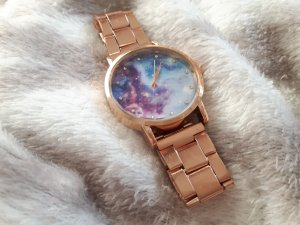 Watch With Metal Strap silver-colored-rose-gold-coloured