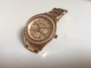 Roségoldene Uhr von Fossil