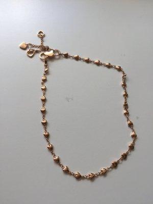 Rosegoldfarbene Fusskette/enge Halskette Modeschmuck