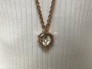 Rosegoldfarbene Kette mit Swarovski-Kristall