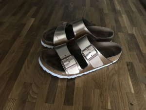 Birkenstock Toe-Post sandals rose-gold-coloured leather