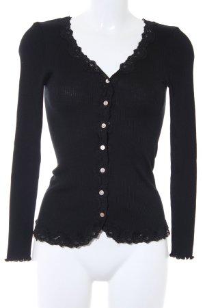 Rosemunde Cardigan schwarz schlichter Stil