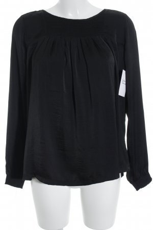Rosemunde Langarm-Bluse schwarz Casual-Look