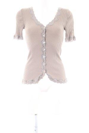 Rosemunde Rippshirt creme Elegant