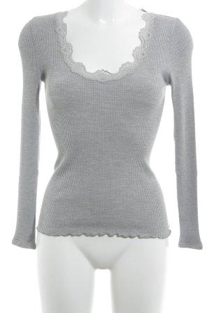 Rosemunde Chemise côtelée gris style décontracté
