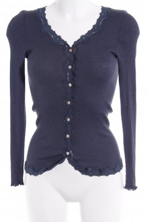 Rosemunde Chaqueta estilo camisa azul oscuro-gris pizarra look casual