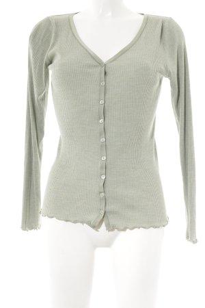 Rosemunde Veste chemise gris vert moucheté style décontracté