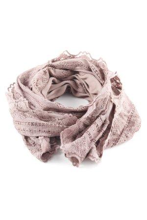 Rosemunde Sciarpa lavorata a maglia malva-grigio-lilla stile casual