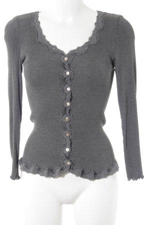 Rosemunde V-Ausschnitt-Shirt dunkelgrau Casual-Look