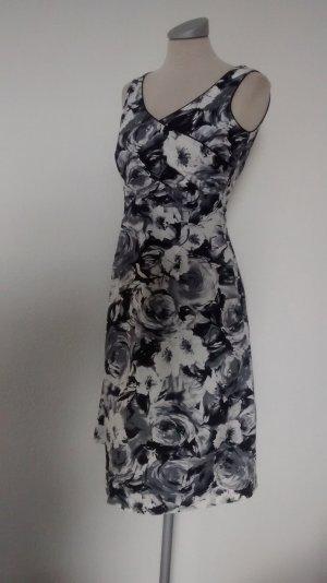 Rosen Etuikleid Kleid schwarz weiß neu Gr. 34 XS Seppälä