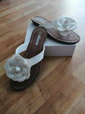 Flip-Flop Sandals white-brown