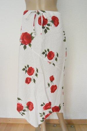 Asymmetry Skirt white-red