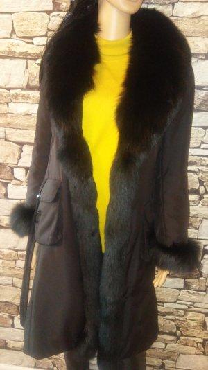 Rosenberg & Lenhart Manteau de fourrure noir fourrure