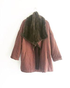 rosenholz farbener mantel / vintage / steppmantel / boho / hippie / oversized