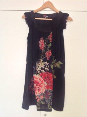 Rosenkleid von YUMI mit Gürtel und Spitze