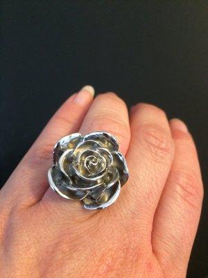 Rosenring | Ring mit Rose | Silber