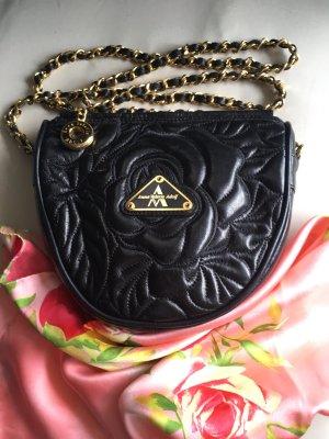 Mini sac noir-doré cuir