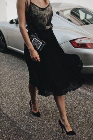 Rosie HW Paige Trägertop hellbraun-schwarz Street-Fashion-Look