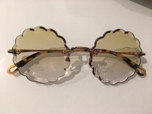 Chloé Round Sunglasses gold-colored-gold orange