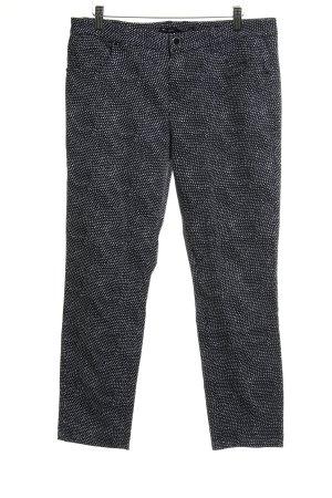 Rosner 7/8-broek zwart-wit gestippeld patroon casual uitstraling