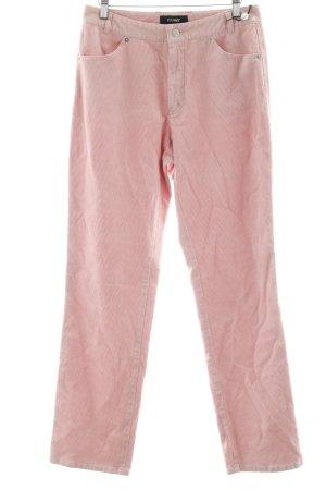 Rosner Pantalone di velluto a coste rosa antico motivo a righe Stile anni '80